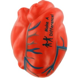 Heart with Veins Stress Ball for Customization