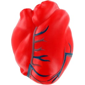 Imprinted Heart with Veins Stress Ball