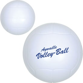 Volleyball Stress Ball (White)
