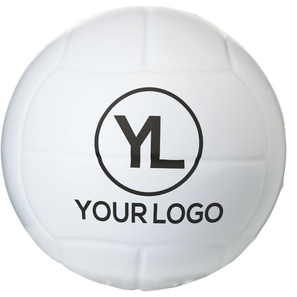 Volleyball Stress Balls Pink And White 0 96 Ea 150 Qty