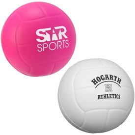 Volleyball Stress Ball (Pink and White)