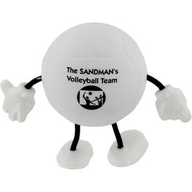 Monogrammed Volleyball Figure Stress Ball