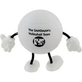 Monogrammed Volleyball Figure Stress Ball