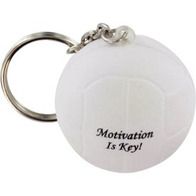 Advertising Volleyball Stress Ball Key Chain