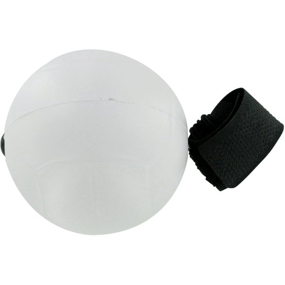 White Volleyball Stress Ball Yo Yo