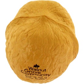 Walnut Stress Ball Branded with Your Logo