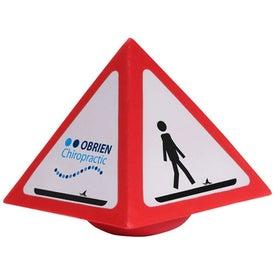 Warning Wobbler Stress Ball for Advertising