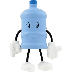 Water Bottle Figure Stress Ball