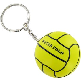 Water Polo Keychain Stress Toy Printed with Your Logo