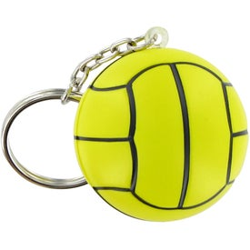 Monogrammed Water Polo Keychain Stress Toy