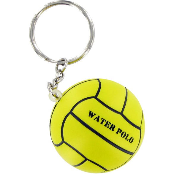 Yellow Water Polo Keychain Stress Toy