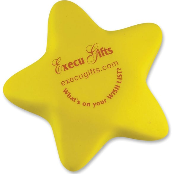 Yellow Squeeze Star Stress Shape
