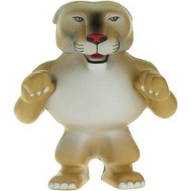 Promotional Wild Cat Cougar Mascot Stress Ball