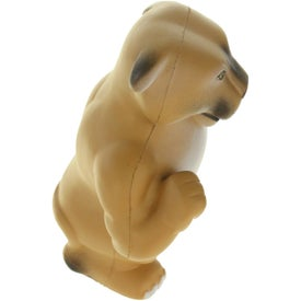 Monogrammed Wild Cat Cougar Mascot Stress Ball