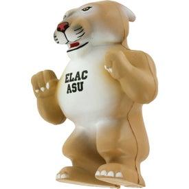 Wild Cat Cougar Mascot Stress Ball for Marketing
