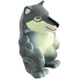 Promotional Wolf Mascot Stress Ball