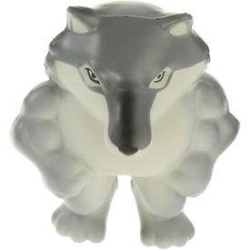 Custom Wolf Mascot Stress Ball