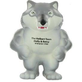Personalized Wolf Mascot Stress Ball