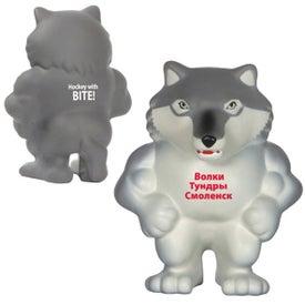 Wolf Mascot Stress Ball