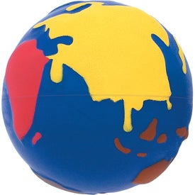 Imprinted World-In-Color Stress Reliever