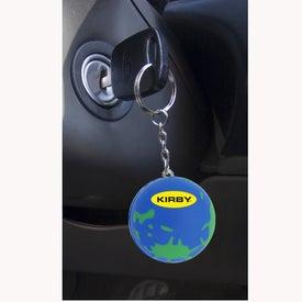 Custom World Keychain Stress Ball