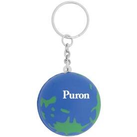 Personalized World Keychain Stress Ball