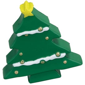 Monogrammed Christmas Tree Stress Ball