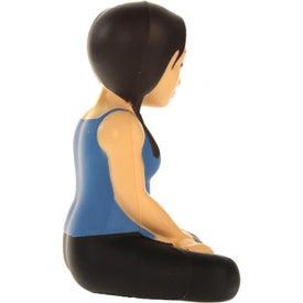 Promotional Yoga Girl Stress Ball