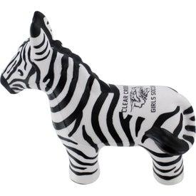 Monogrammed Zebra Stress Reliever