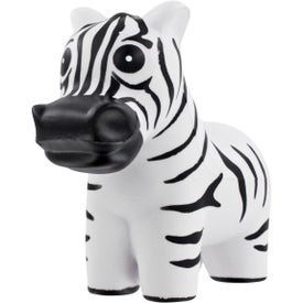 Zebra Stress Ball with Your Slogan