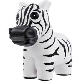Zebra Stress Ball with Your Slogan