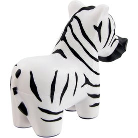 Zebra Stress Toy Imprinted with Your Logo
