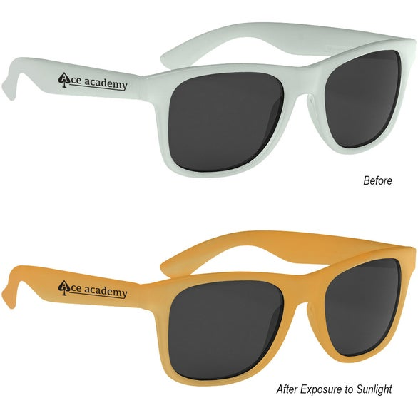 Frosted to Orange Color Changing Malibu Sunglasses