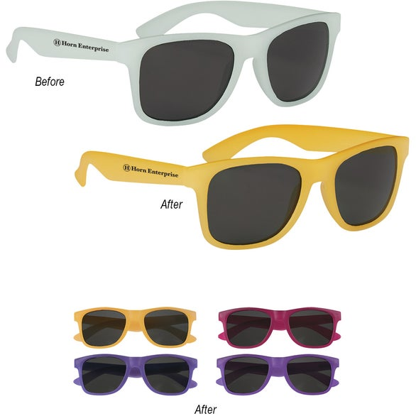 Sunglasses Change Color  promotional color changing malibu sunglasses with custom logo for