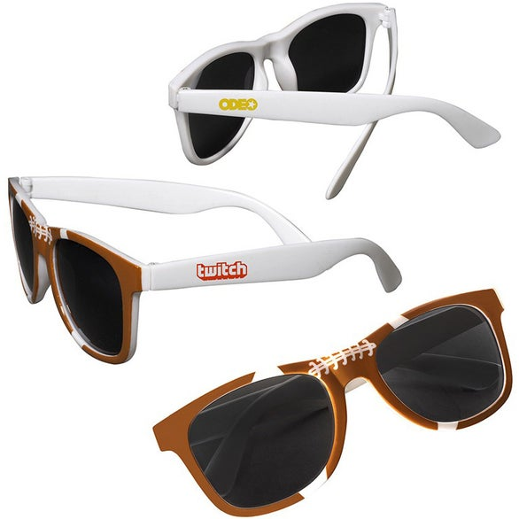 Brown / White Football Sunglasses