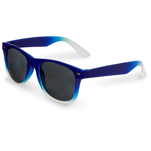 Blue / White Gradient Frame Sunglasses