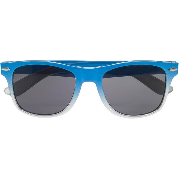 Light Blue / Silver Gradient Malibu Sunglasses