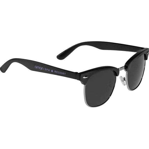 Black Islander Sunglasses with Microfiber Pouch