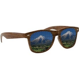 Lenstek Wood Grain Miami Sunglasses