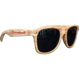 Light Wood Tone Miami Sunglasses