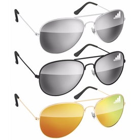 Metal Mirror Aviator Sunglasses
