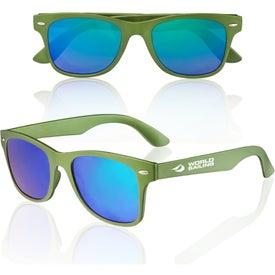 Metallic Mirrored Lens Sunglasses