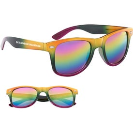 Metallic Rainbow Malibu Sunglasses (Unisex)