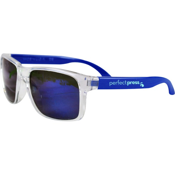 Blue / Clear Mirror Sunglasses