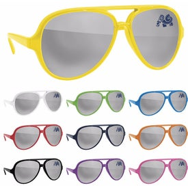 Plastic Mirror Aviator Sunglasses