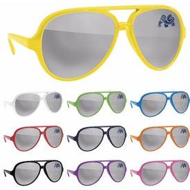 Plastic Mirror Aviator Sunglasses
