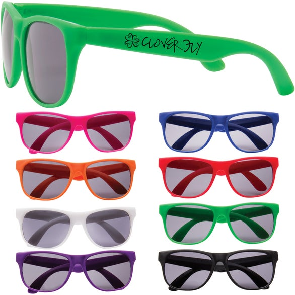 promotional leisure sunglasses with custom logo for 0 958 ea