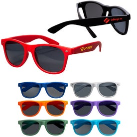 Rubberized Finish Fashion Sunglasses