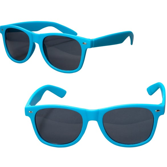 Light Blue Rubberized Finish Fashion Sunglasses