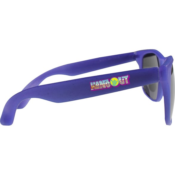 Frosted to Blue Sun Fun Sunglasses